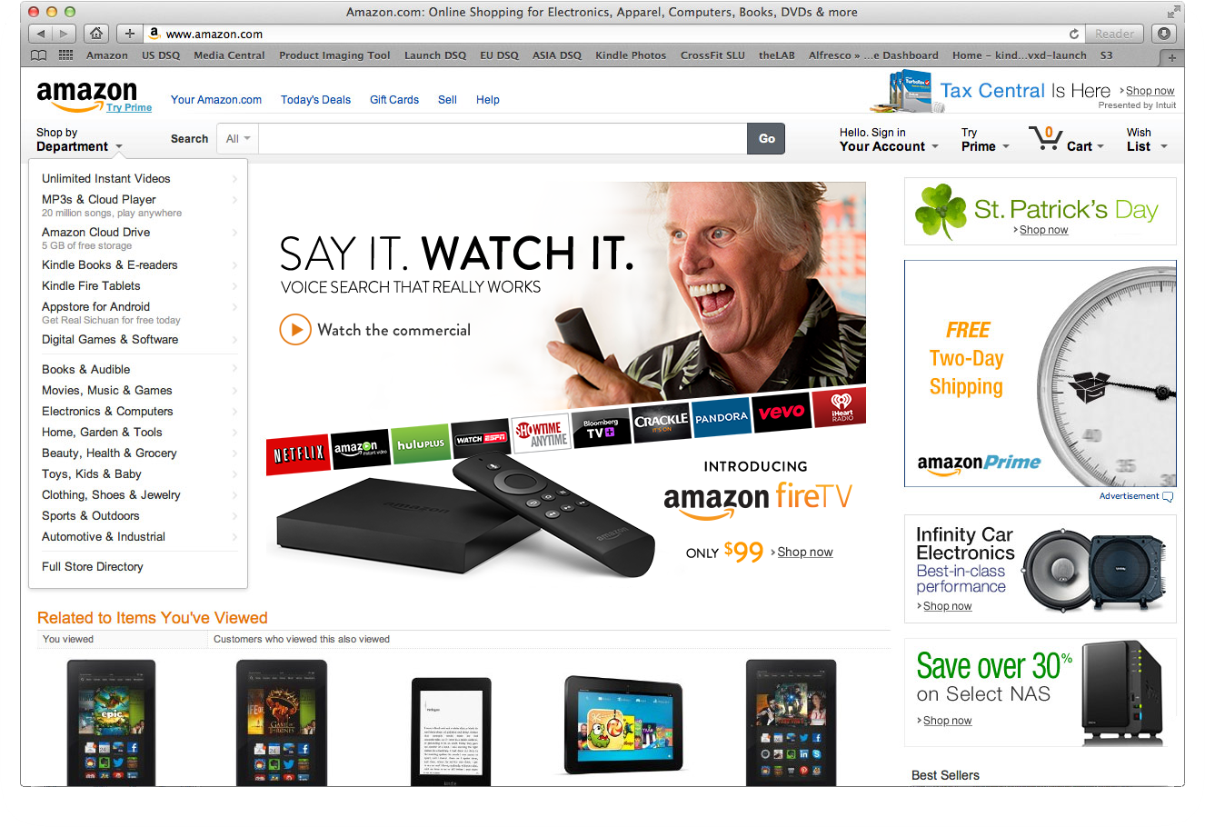 Amazon Fire TV Announcement featuring Gary Busey